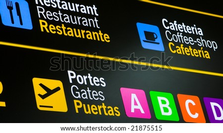 International Airport Sign - stock photo