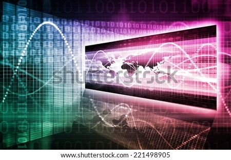International Business and Global Partners as a Network - stock photo
