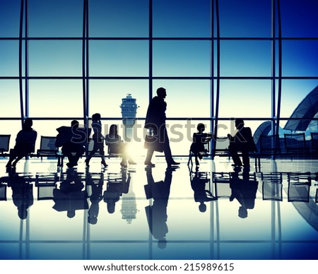 International Departures - stock photo