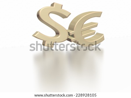 International economy currency units: euro, dollar