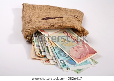 International Finance: currencies from around the world - stock photo