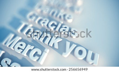 International greetings, in multiple languages - stock photo