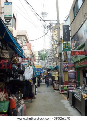 International Market in Pusan - stock photo
