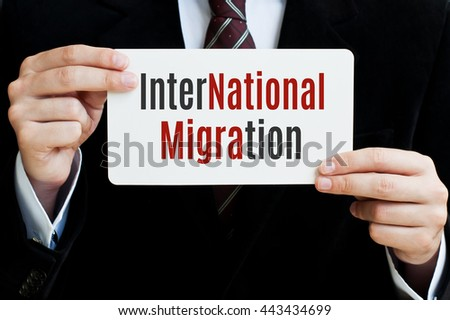 International Migration concept