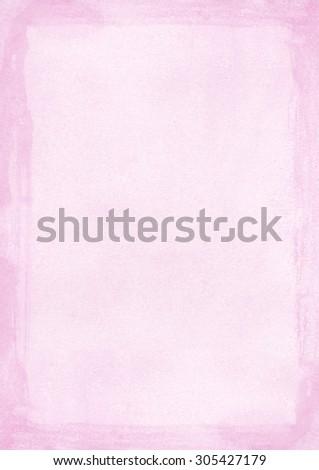 international paper size - Vertical light pink grunge retro style paper background - stock photo