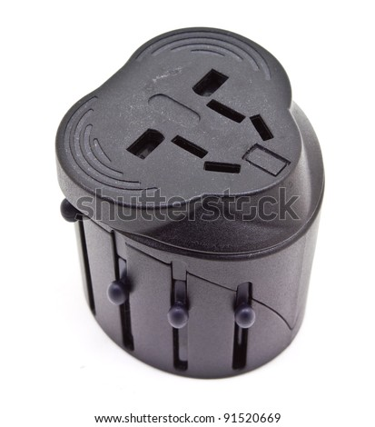 international plug - stock photo
