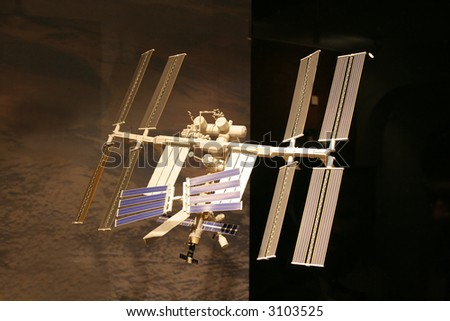 International Space Station, photo of the accurate model - stock photo