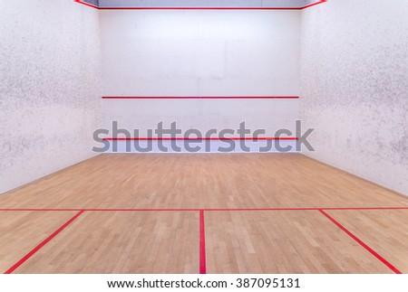 International squash court - stock photo