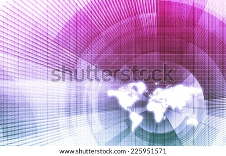 International Studies and Political Economics as Art - stock photo