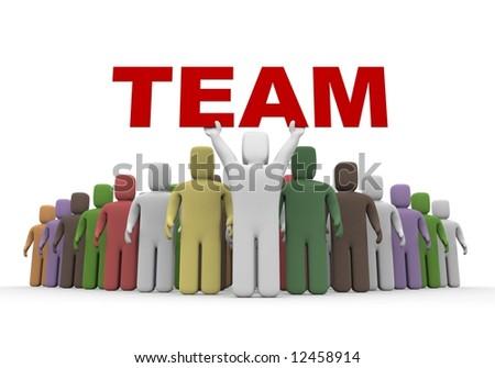 International team - stock photo