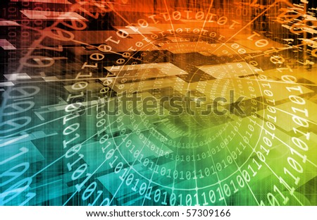 Internet Abstract as a Tech Art Background - stock photo