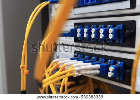 Internet and electronic Wire cable system in safety box switch