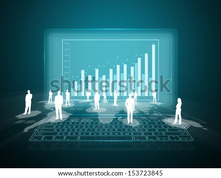 Internet and telecommunication concept - stock photo