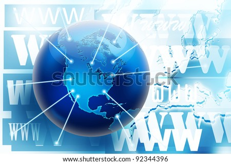 Internet and world wide web connections. Internet concept picture. - stock photo