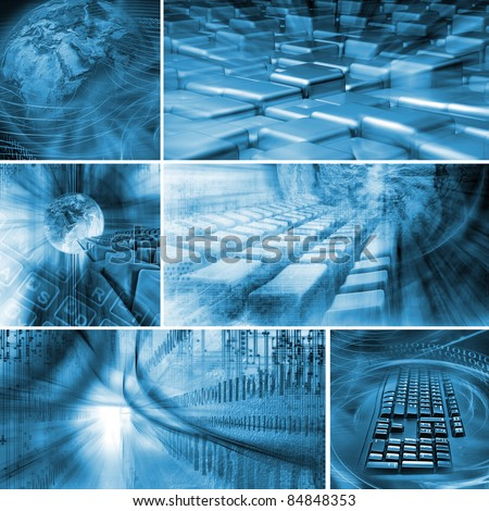 Internet Background - stock photo