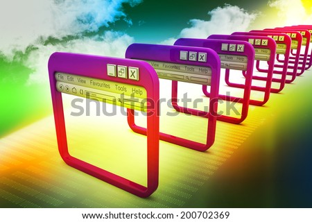 Internet browser - stock photo