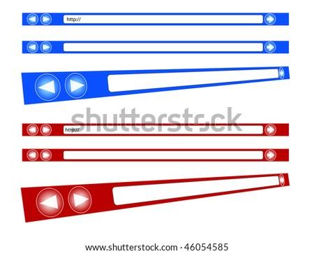 Internet browser bars - stock photo