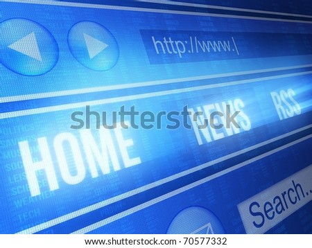 Internet browser blue - stock photo