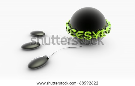 Internet Business Online Source for Wealth on Net - stock photo