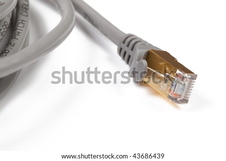 internet cable on white background