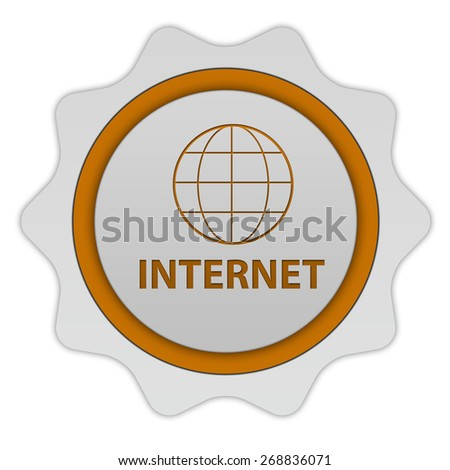 internet circular icon on white background - stock photo