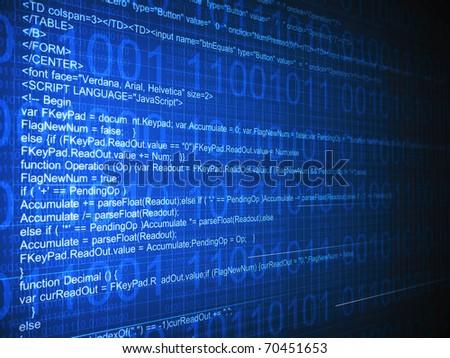 Internet code - stock photo