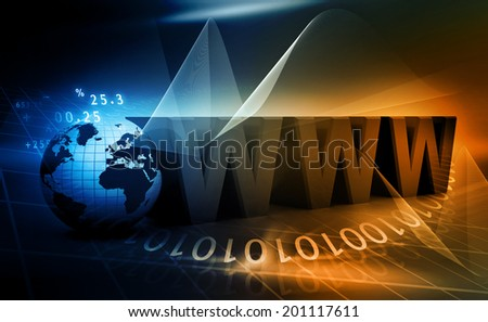 Internet concept background 	 - stock photo