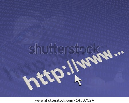 Internet concept. Background of blue color - stock photo
