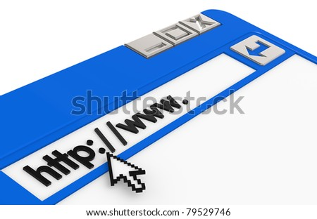 Internet Concept. Blue and Steel Browser Window - stock photo