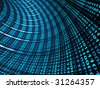 Internet concept -  3d abstract blue tunnel - stock photo