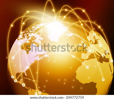 Internet Concept of global networking 	 - stock photo