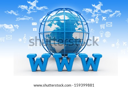Internet concept on abstract background  - stock photo