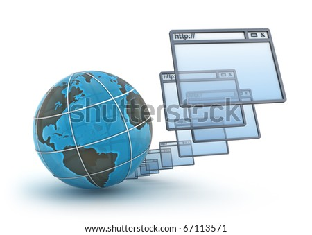 Internet concept on white background - stock photo