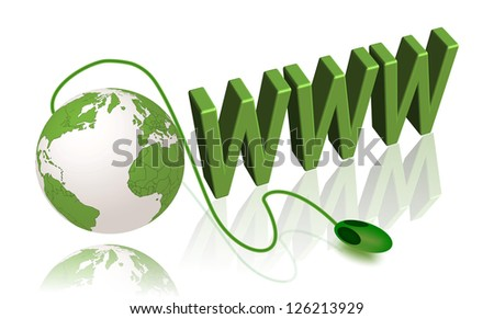 internet concept www planet - stock photo