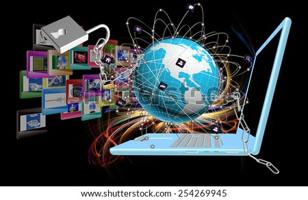Internet.Connection - stock photo
