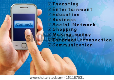 internet connection by smart phone