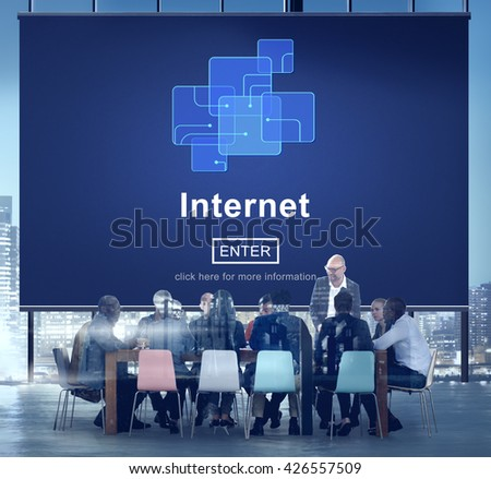 Internet Connection Digital Business Concept - stock photo