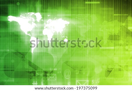 Internet Connectivity and Mobility Software as Art - stock photo