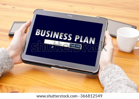 Internet consulting business plan - stock photo