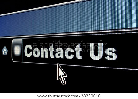 Internet Contact Us concept for a webpage - stock photo
