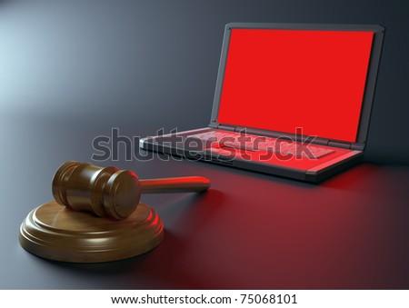 Internet crime concept - stock photo