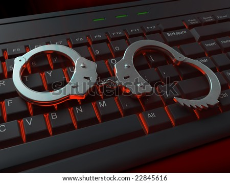 Internet crime illustration - stock photo