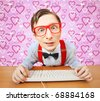 Internet dating - stock photo