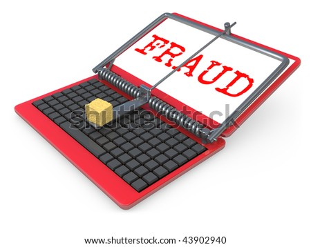 Internet Fraud - stock photo