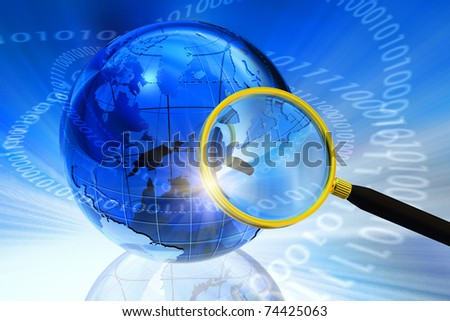 Internet/Global communication concept - stock photo