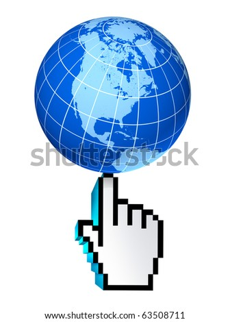 internet global North America Canada U.S.A Mexico web earth connections interactive touch symbol select world wide conected communications technology isolated - stock photo
