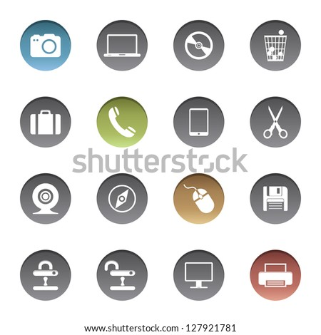 Internet icons. Vector version also available in gallery. - stock photo