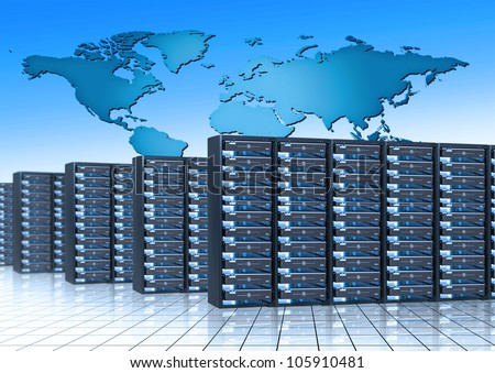internet infrastructure - stock photo