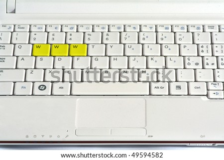 internet keyboard - stock photo
