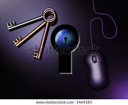 Internet Keys - stock photo
